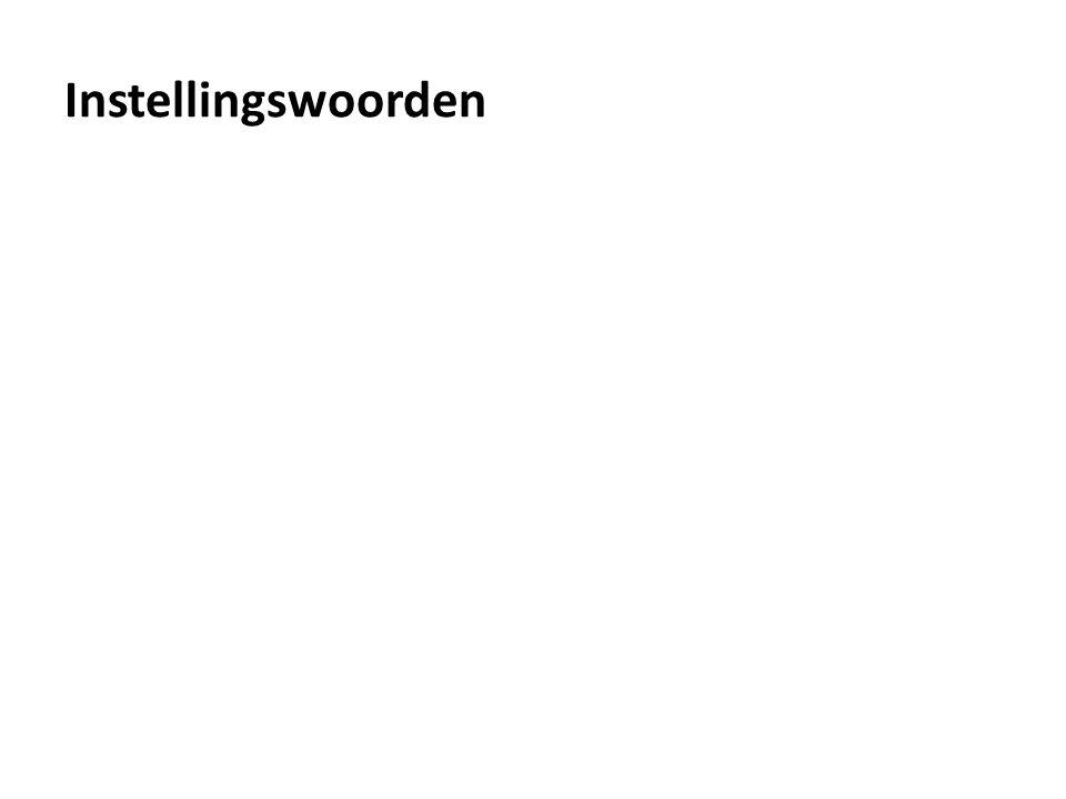 Instellingswoorden