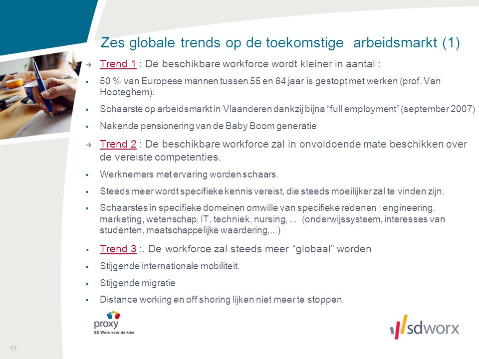 Zes globale trends op de toekomstige arbeidsmarkt (1)