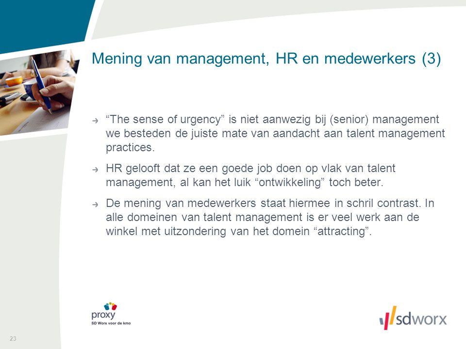 Mening van management, HR en medewerkers (3)