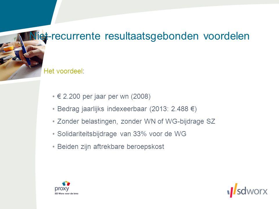 Niet-recurrente resultaatsgebonden voordelen