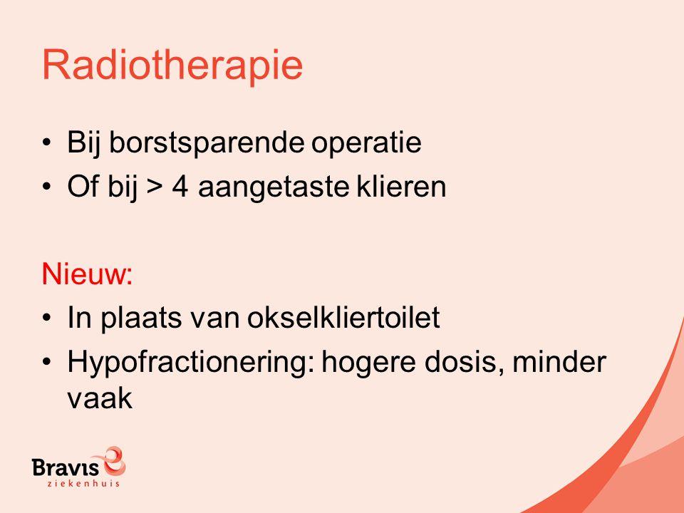 Radiotherapie Bij borstsparende operatie