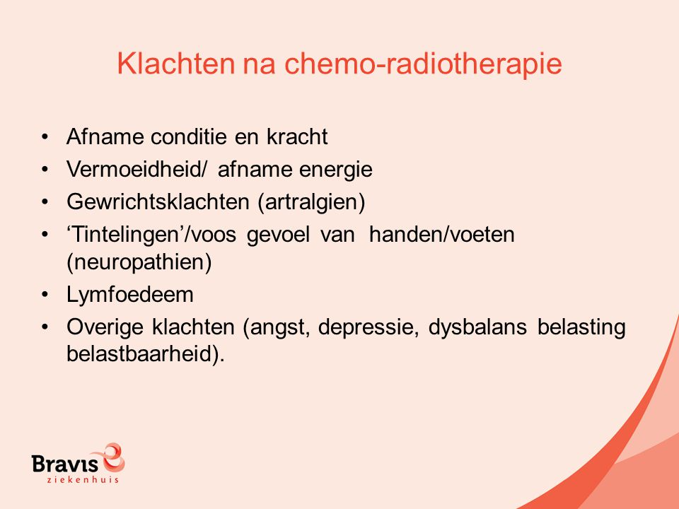 Klachten na chemo-radiotherapie