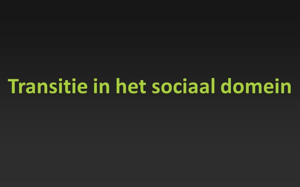 Transitie in het sociaal domein