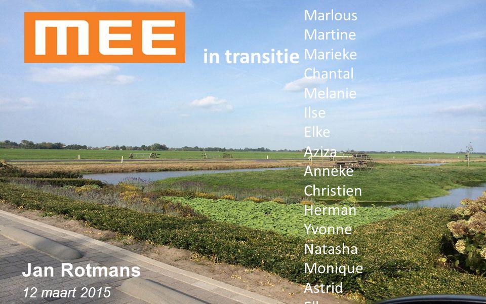 in transitie Jan Rotmans Marlous Martine Marieke Chantal Melanie Ilse