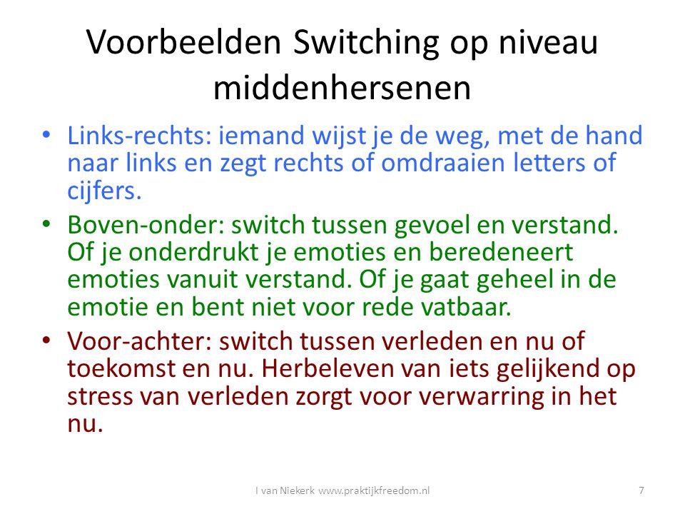 Voorbeelden Switching op niveau middenhersenen