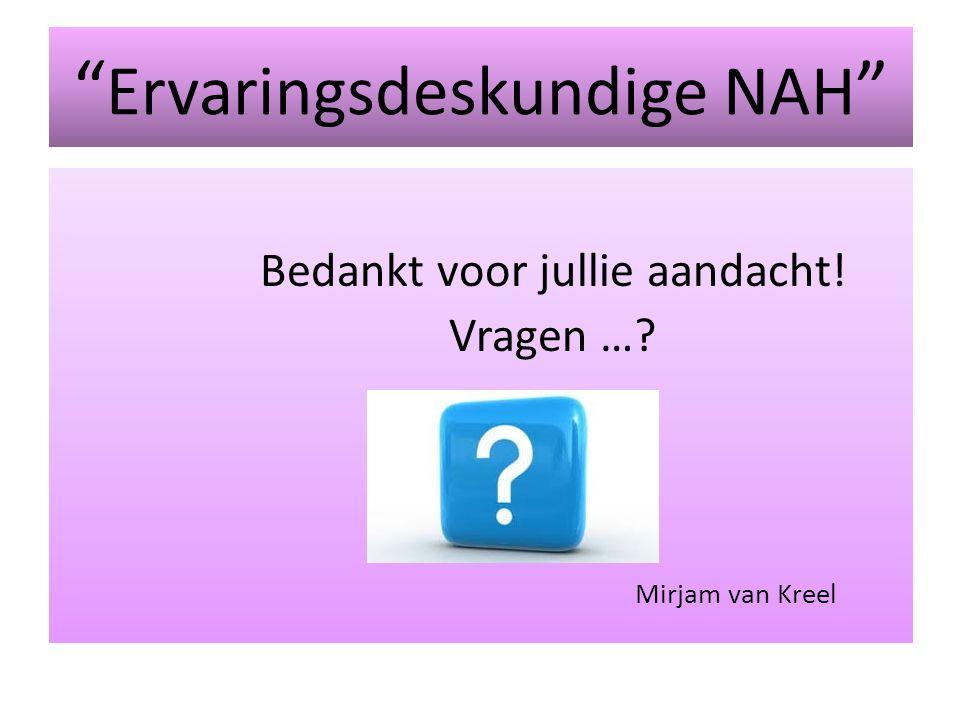 Ervaringsdeskundige NAH