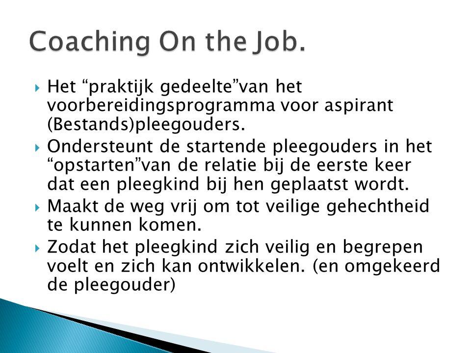Coaching On the Job. Het praktijk gedeelte van het voorbereidingsprogramma voor aspirant (Bestands)pleegouders.
