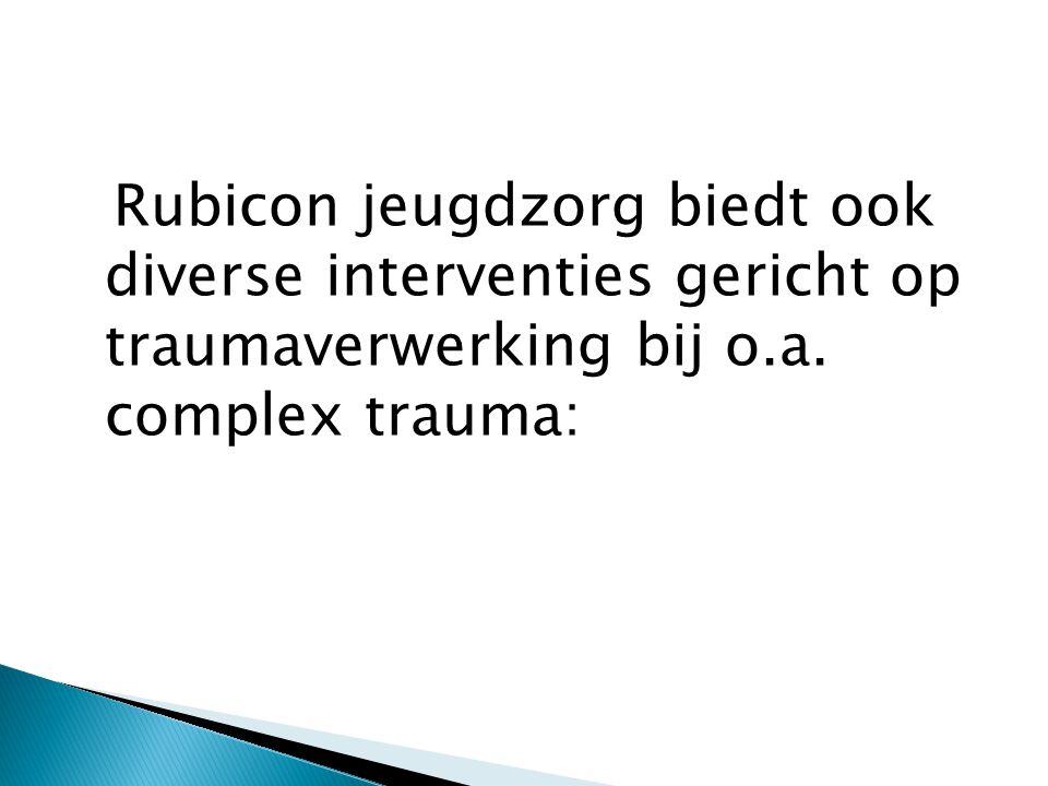 Rubicon jeugdzorg biedt ook diverse interventies gericht op traumaverwerking bij o.a.