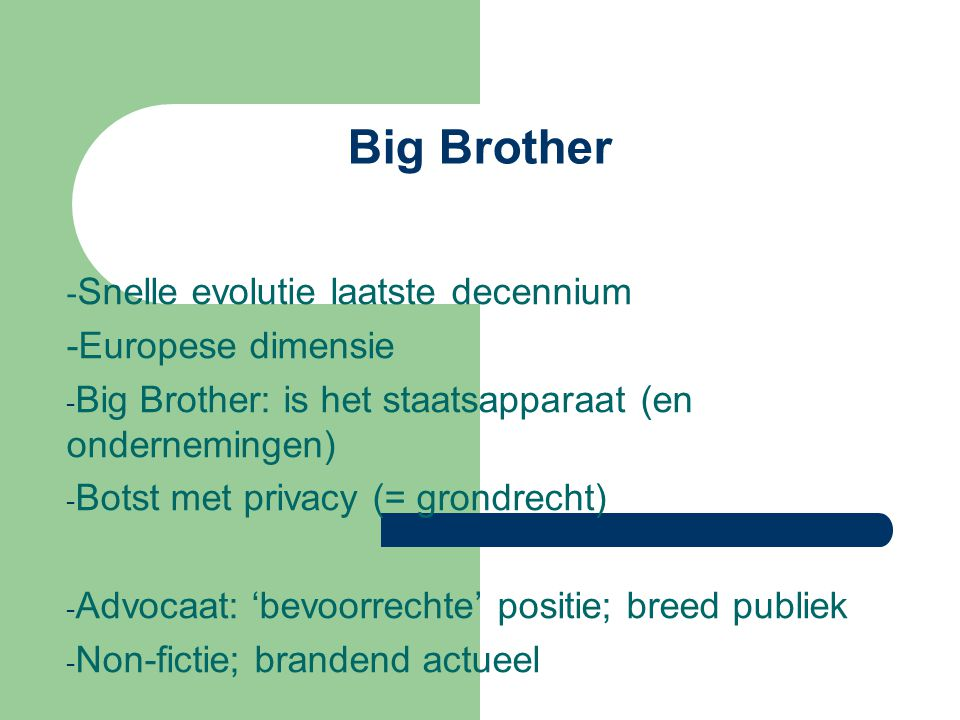 Big Brother -Europese dimensie