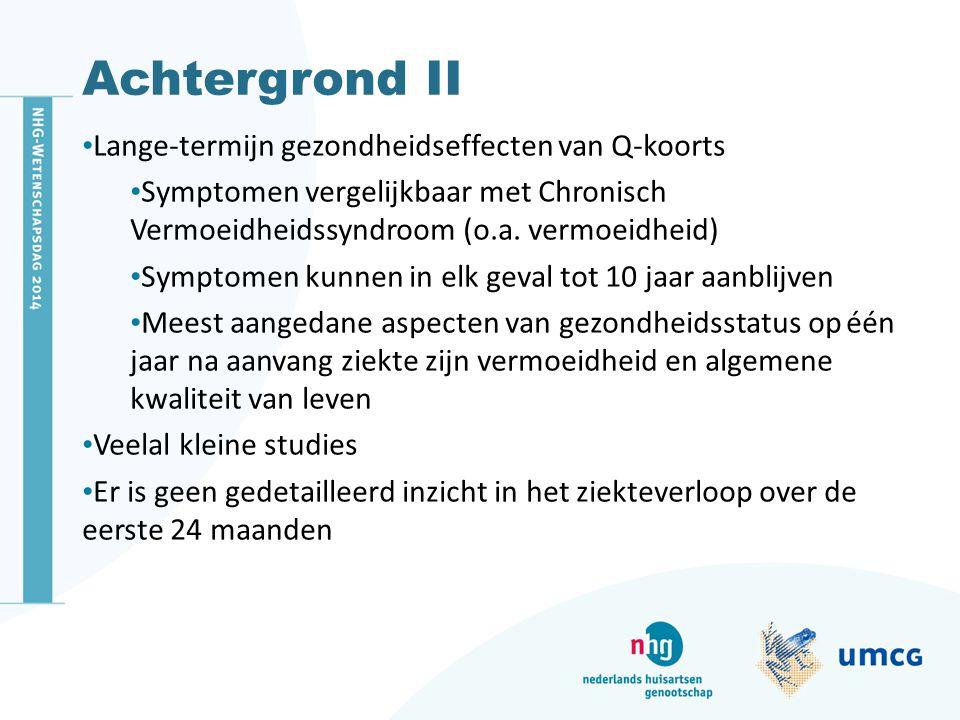 Achtergrond II Lange-termijn gezondheidseffecten van Q-koorts