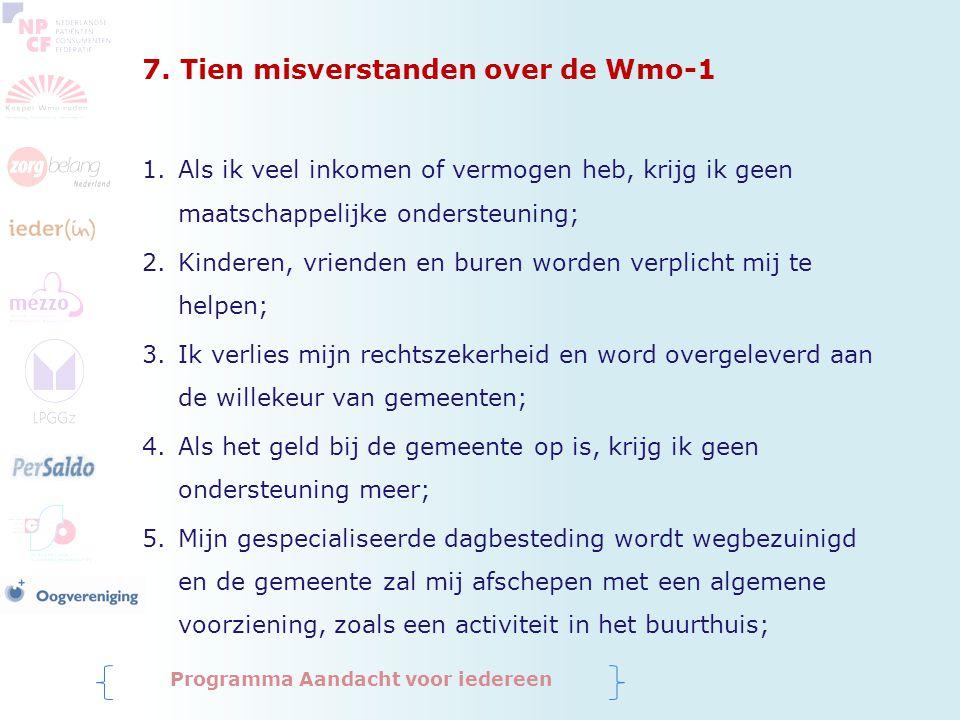 7. Tien misverstanden over de Wmo-1