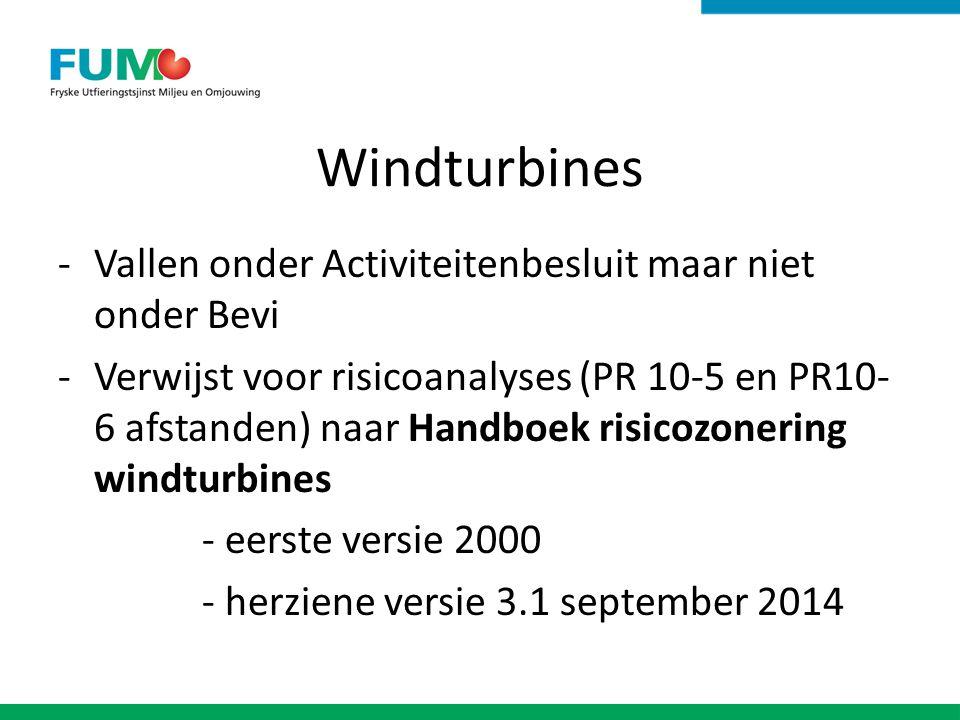 Windturbines Vallen onder Activiteitenbesluit maar niet onder Bevi