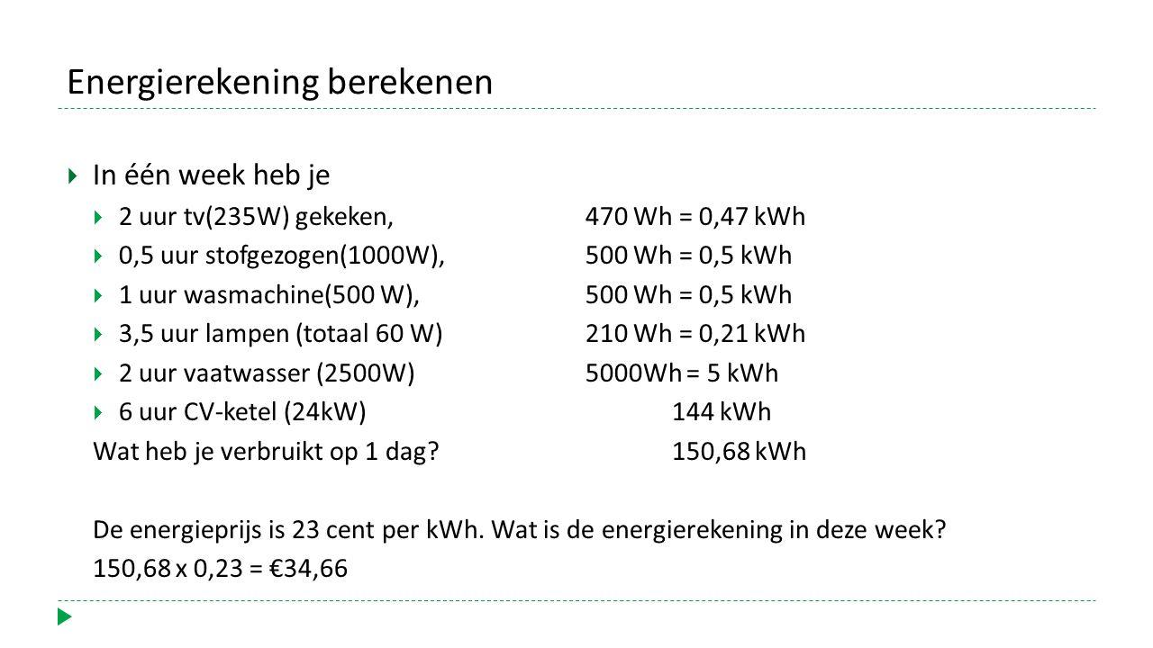 Energierekening berekenen