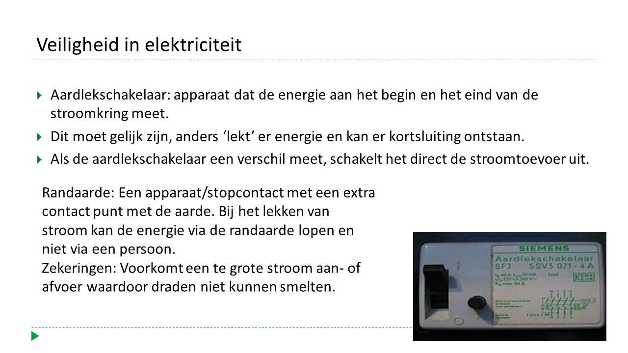 Veiligheid in elektriciteit