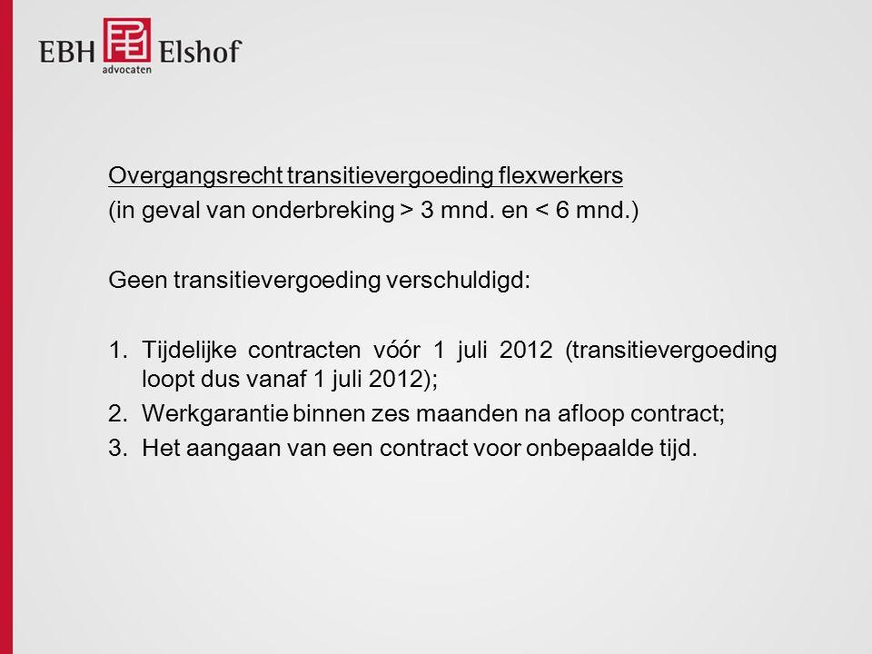 Overgangsrecht transitievergoeding flexwerkers