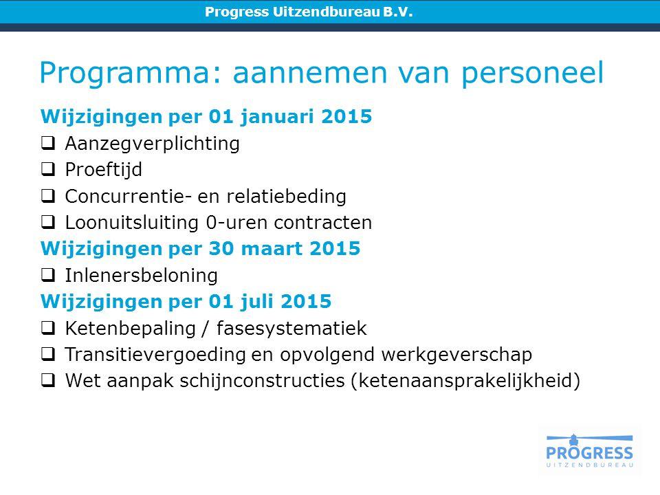 Programma: aannemen van personeel