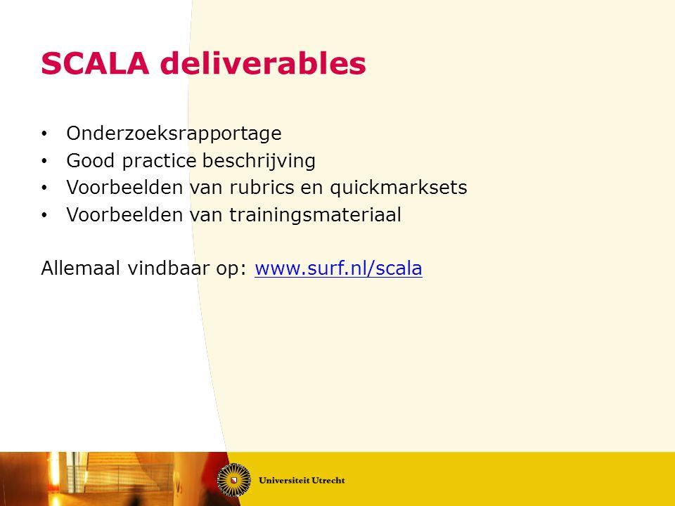 SCALA deliverables Onderzoeksrapportage Good practice beschrijving