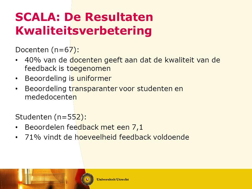 SCALA: De Resultaten Kwaliteitsverbetering