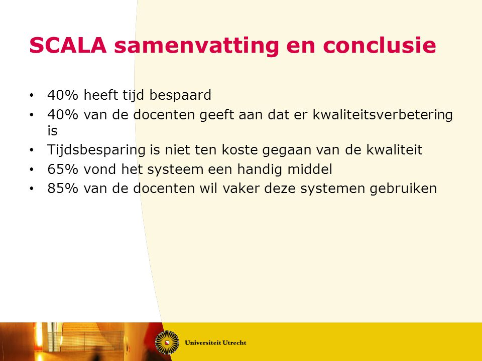 SCALA samenvatting en conclusie