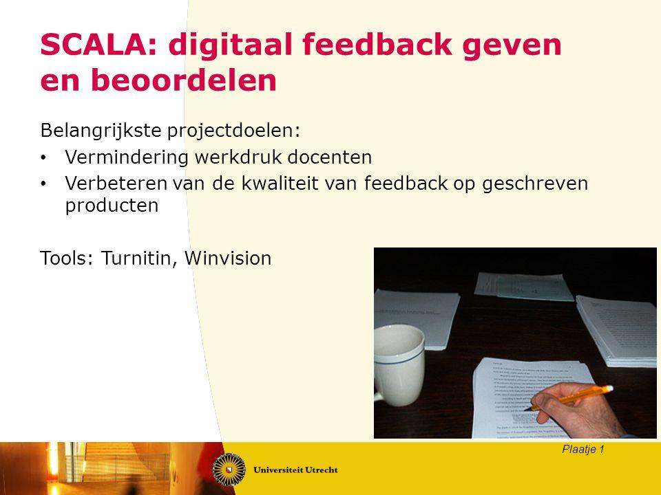 SCALA: digitaal feedback geven en beoordelen