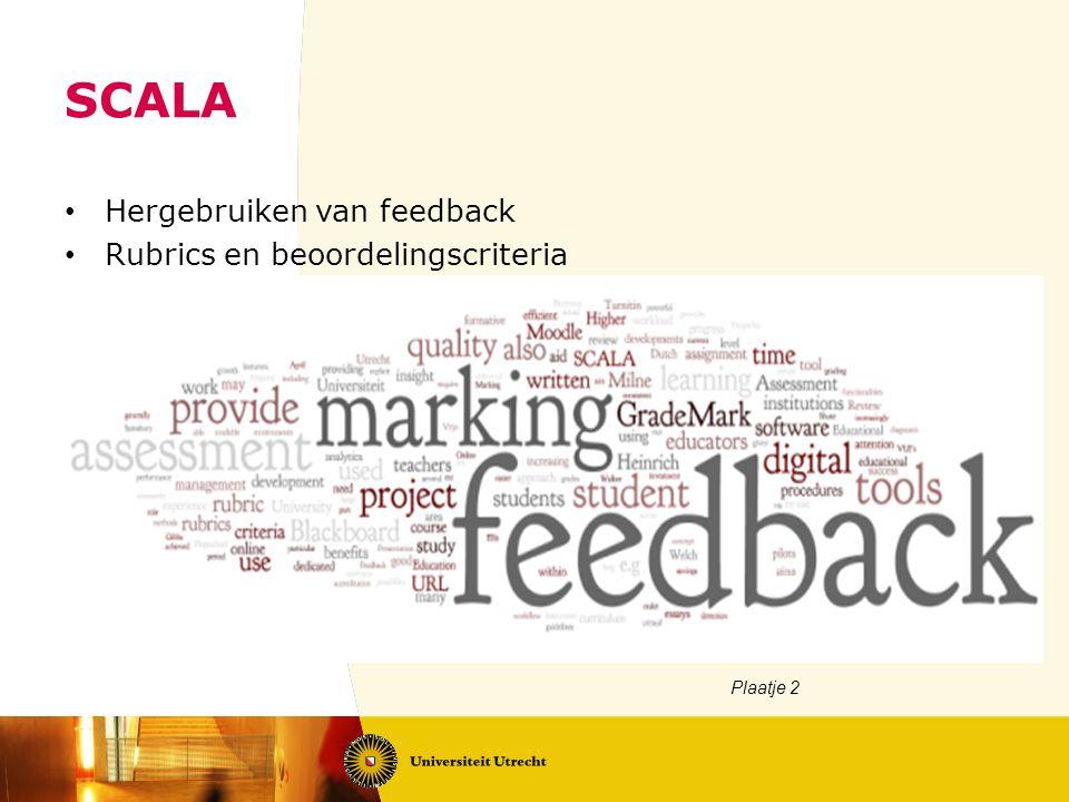 SCALA Hergebruiken van feedback Rubrics en beoordelingscriteria