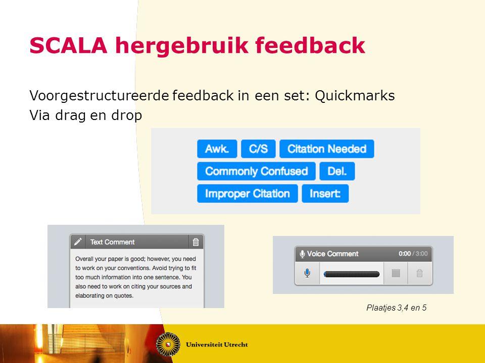 SCALA hergebruik feedback