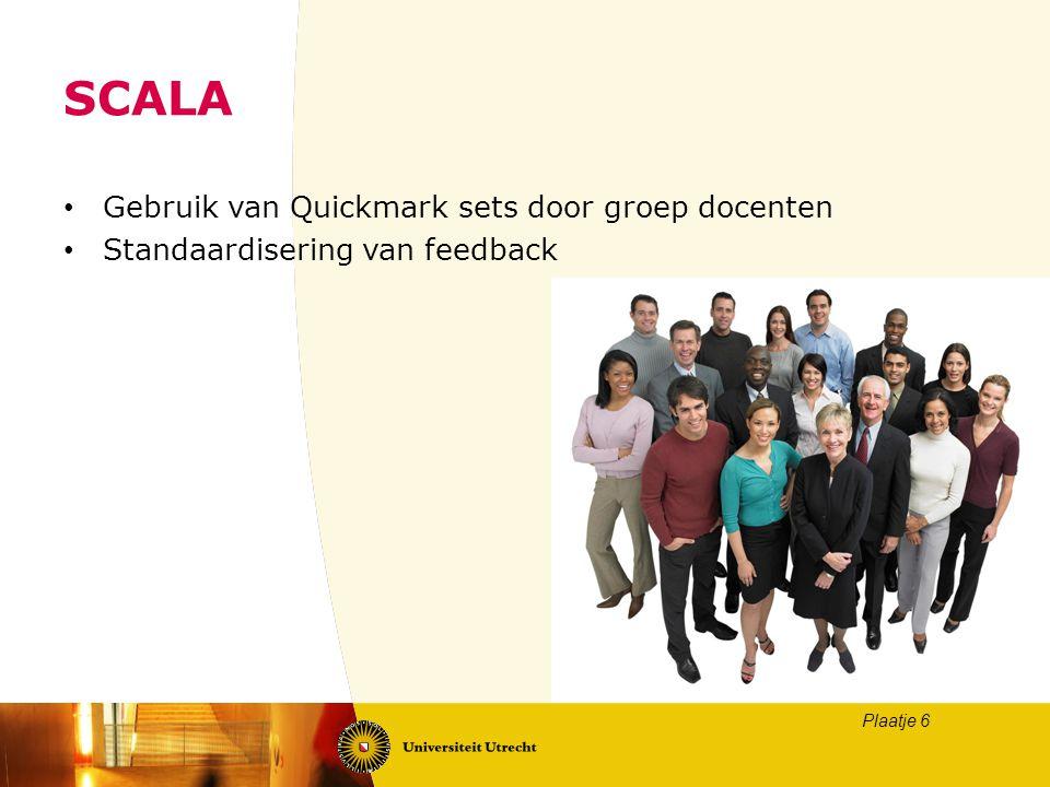 SCALA Gebruik van Quickmark sets door groep docenten