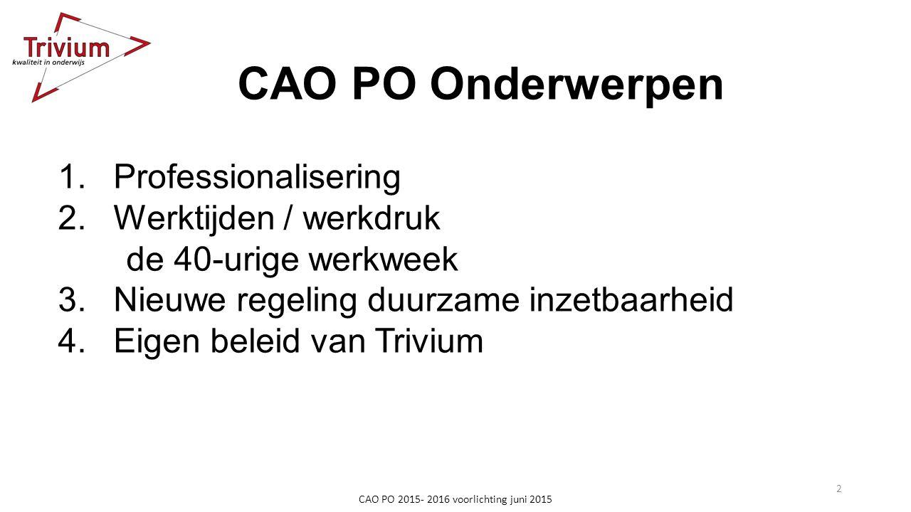 CAO PO 2015- 2016 voorlichting juni 2015