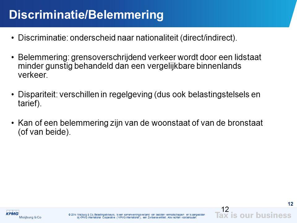 Discriminatie/Belemmering