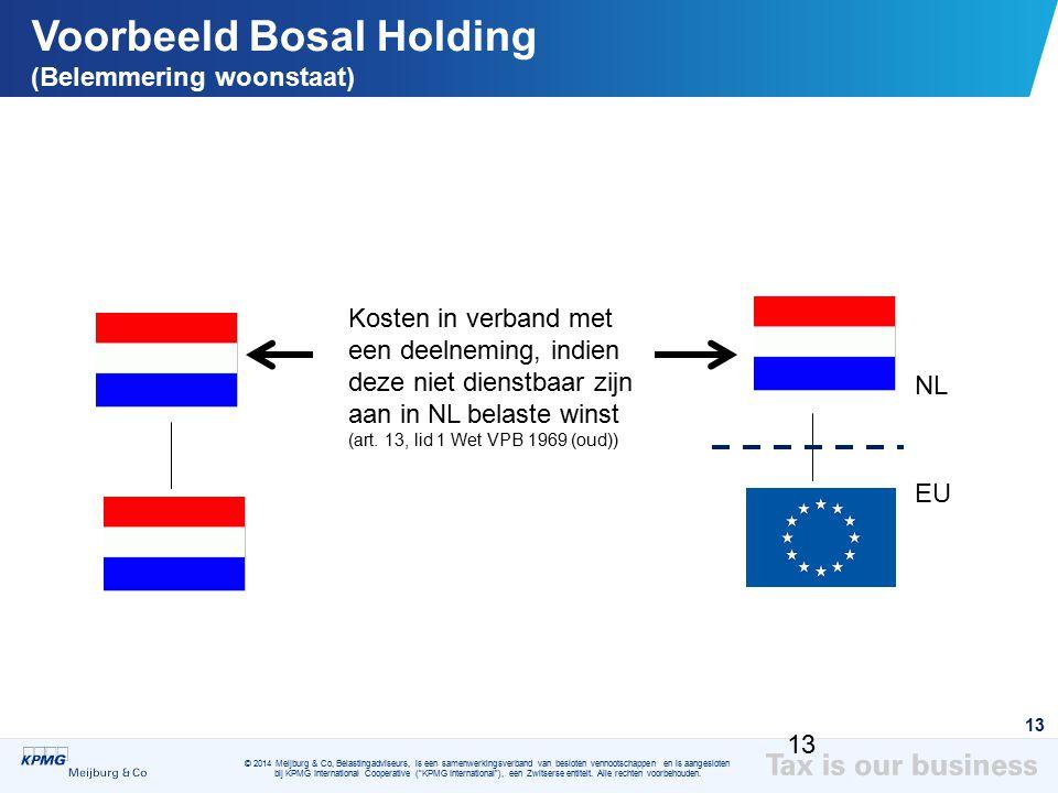 Voorbeeld Bosal Holding (Belemmering woonstaat)