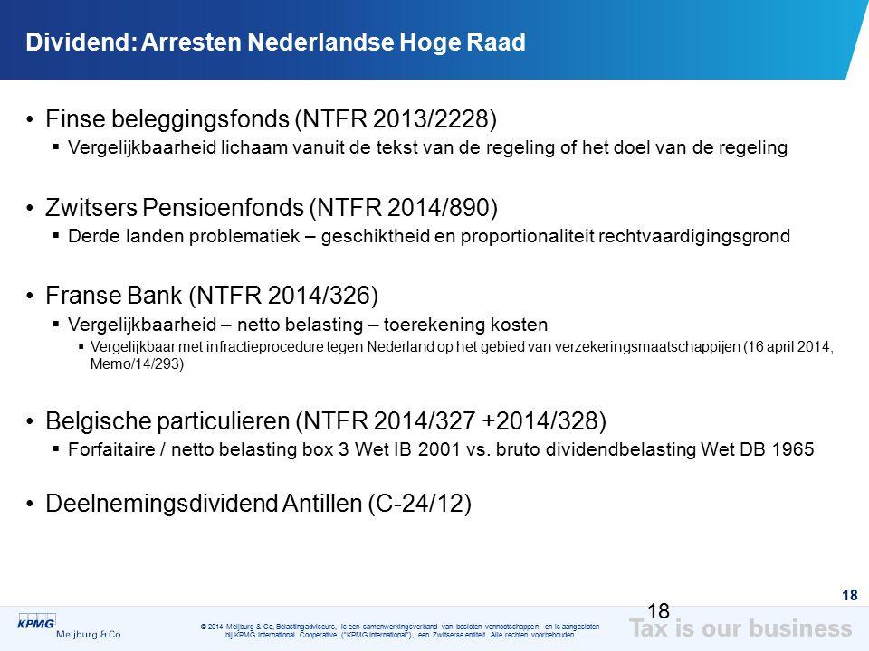Dividend: Arresten Nederlandse Hoge Raad