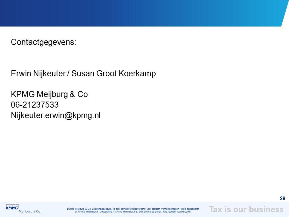 Contactgegevens: Erwin Nijkeuter / Susan Groot Koerkamp.