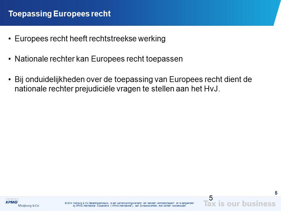 Toepassing Europees recht
