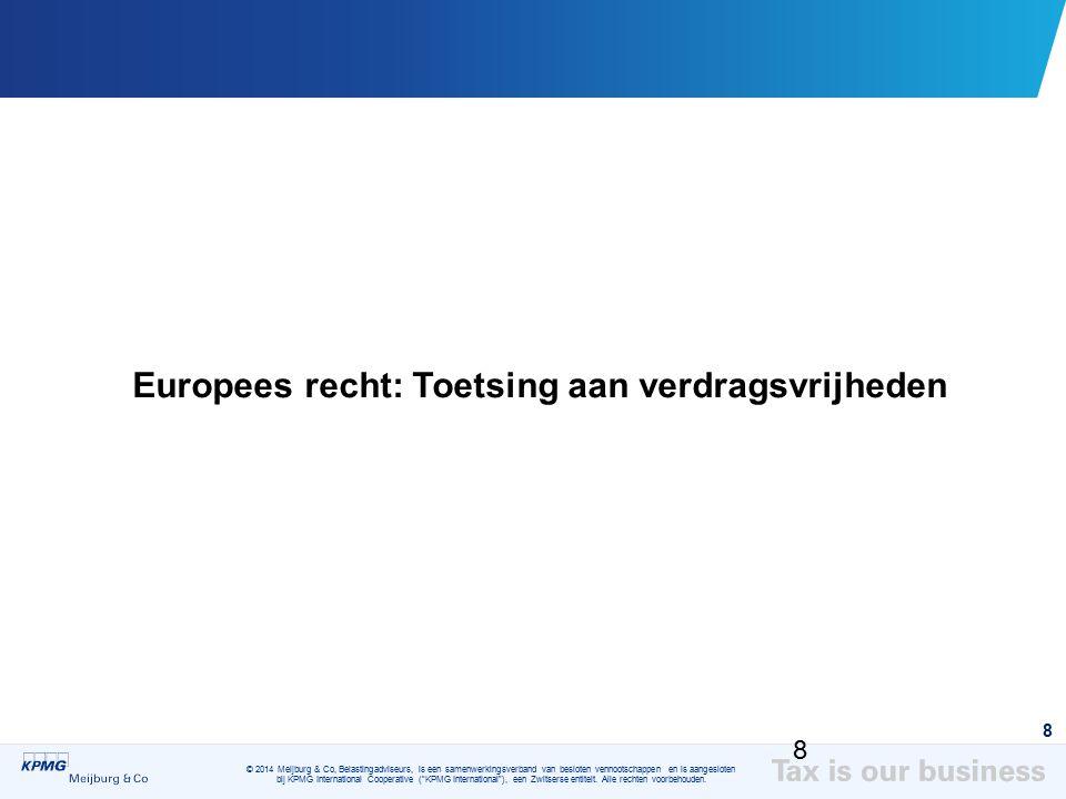 Europees recht: Toetsing aan verdragsvrijheden
