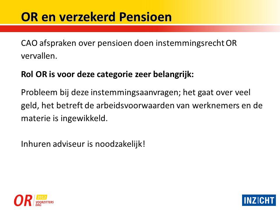 OR en verzekerd Pensioen