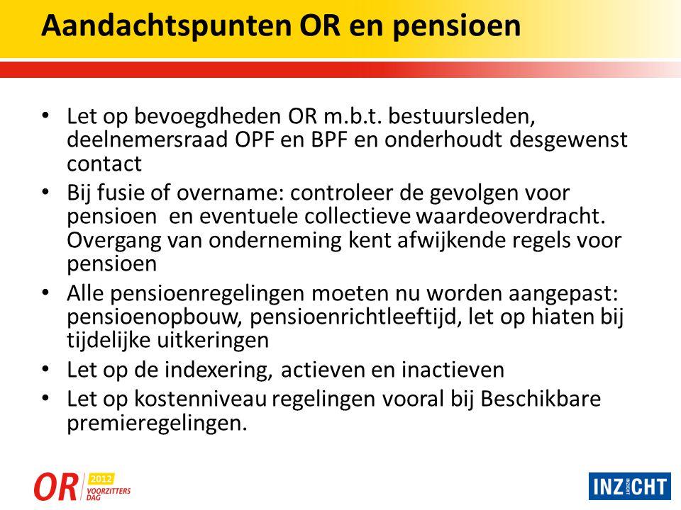 Aandachtspunten OR en pensioen