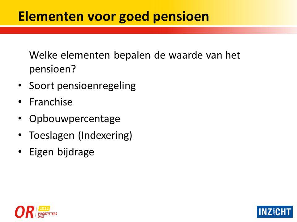 Elementen voor goed pensioen