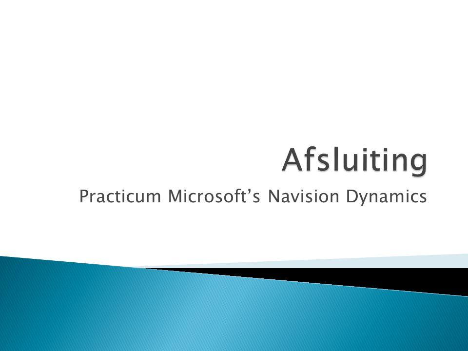 Practicum Microsoft's Navision Dynamics
