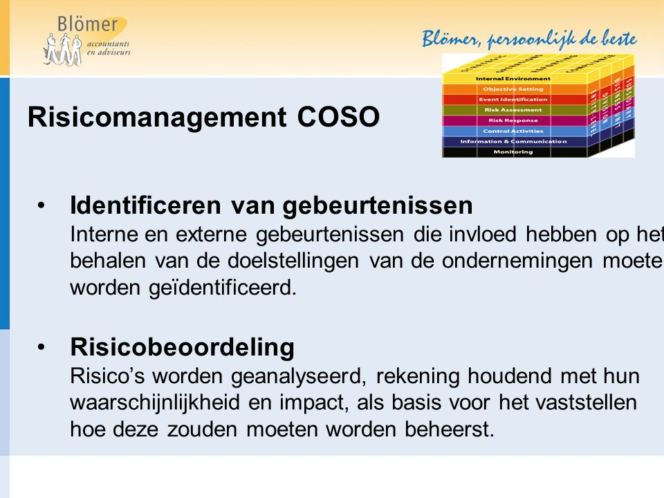Risicomanagement COSO