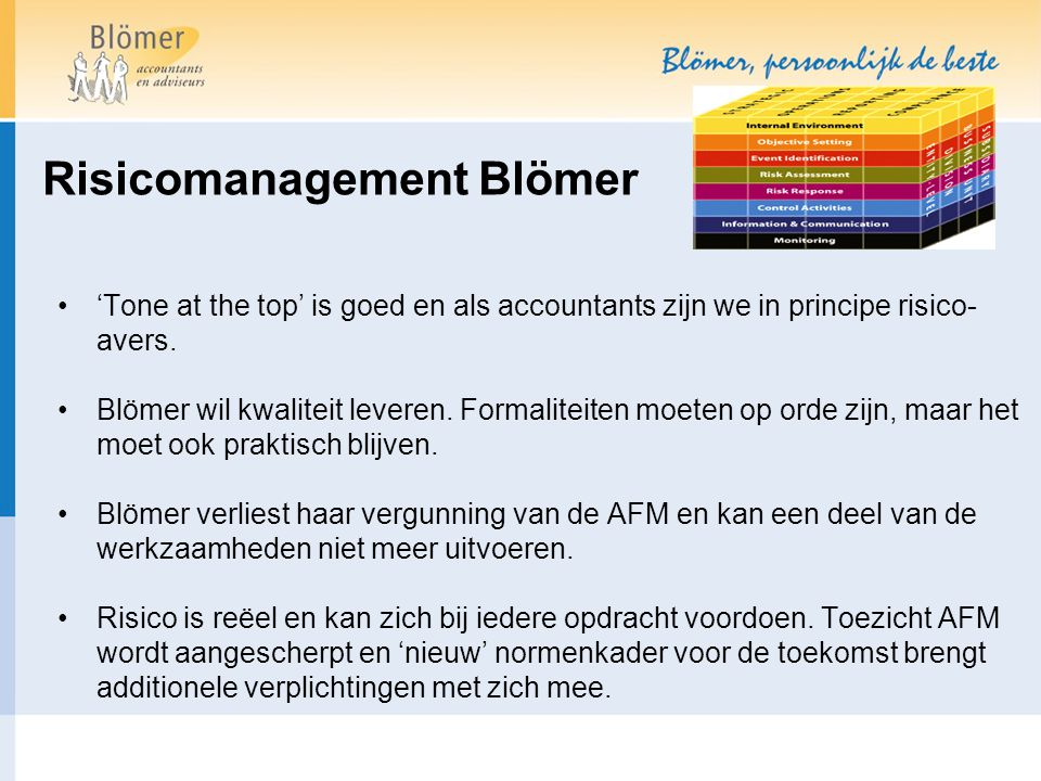 Risicomanagement Blömer