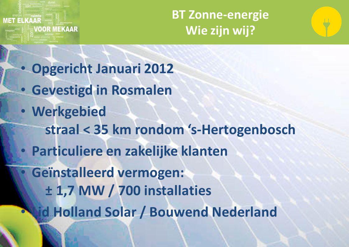 BT Zonne-energie Wie zijn wij