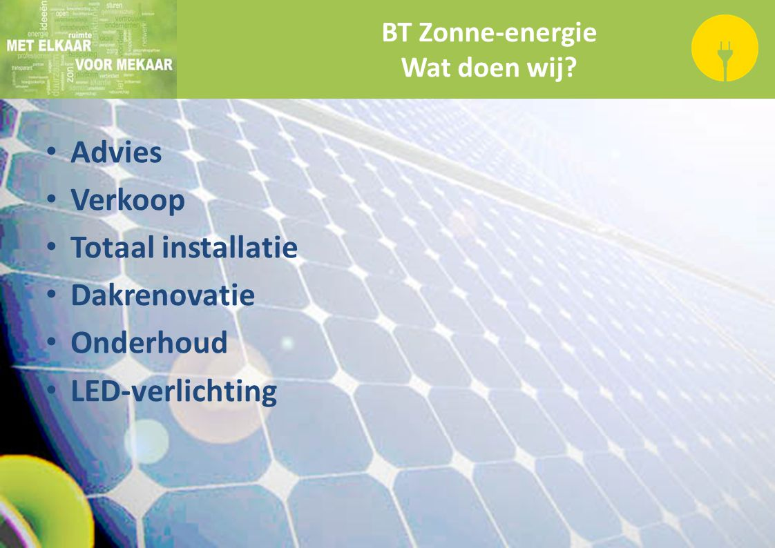 BT Zonne-energie Wat doen wij