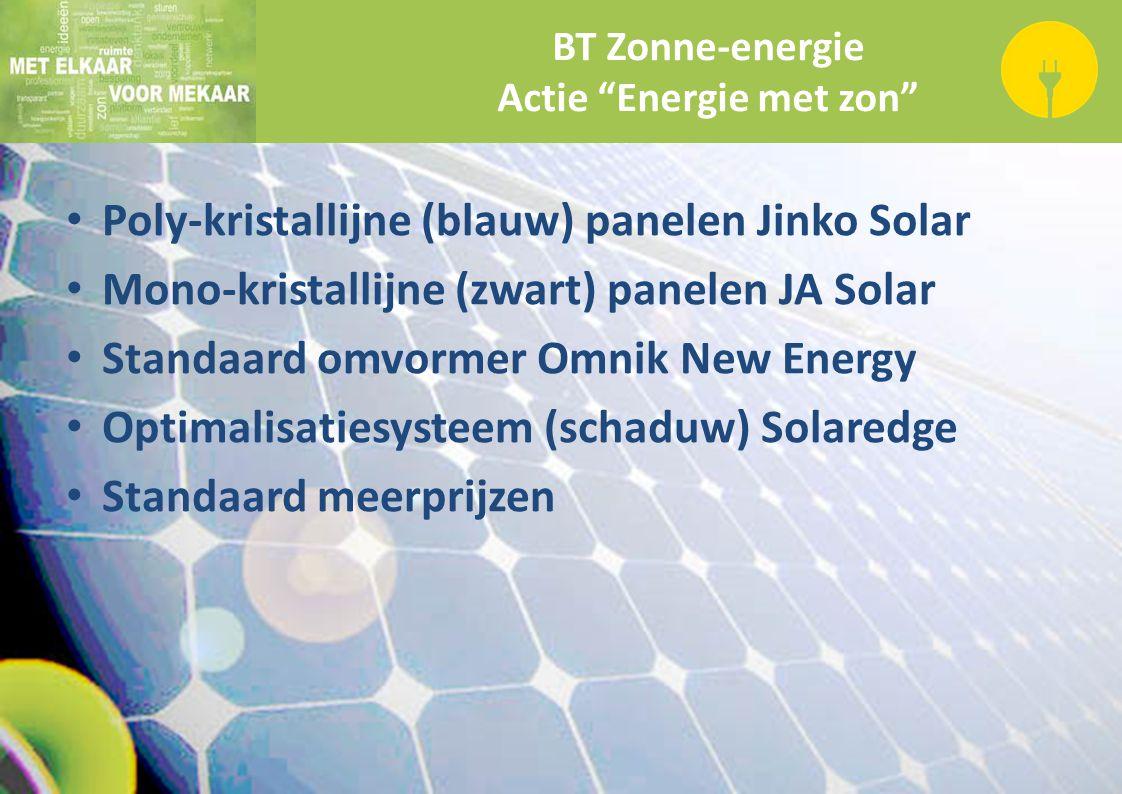 Actie Energie met zon