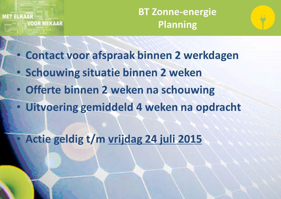 BT Zonne-energie Planning