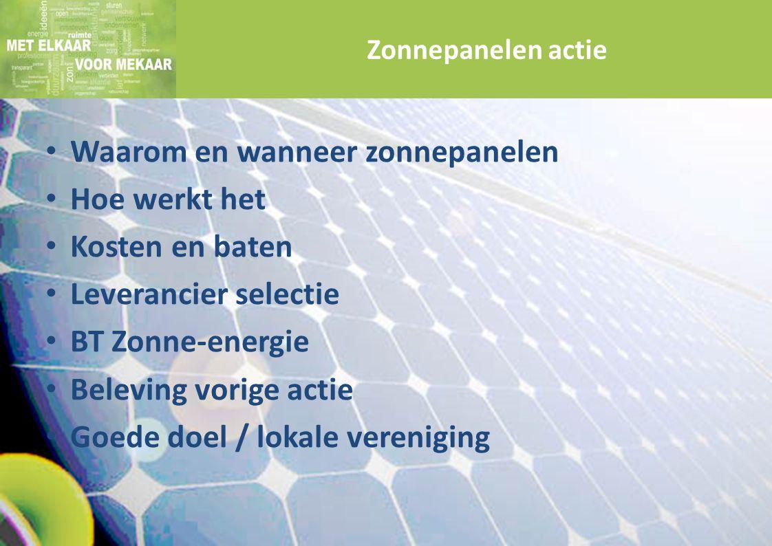 Waarom en wanneer zonnepanelen Hoe werkt het Kosten en baten
