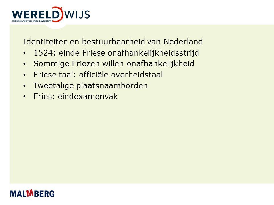 Identiteiten en bestuurbaarheid van Nederland