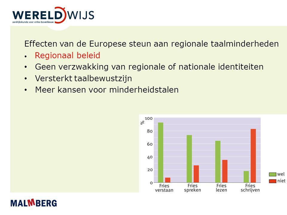 Effecten van de Europese steun aan regionale taalminderheden