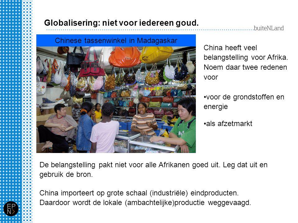 Globalisering: niet voor iedereen goud.