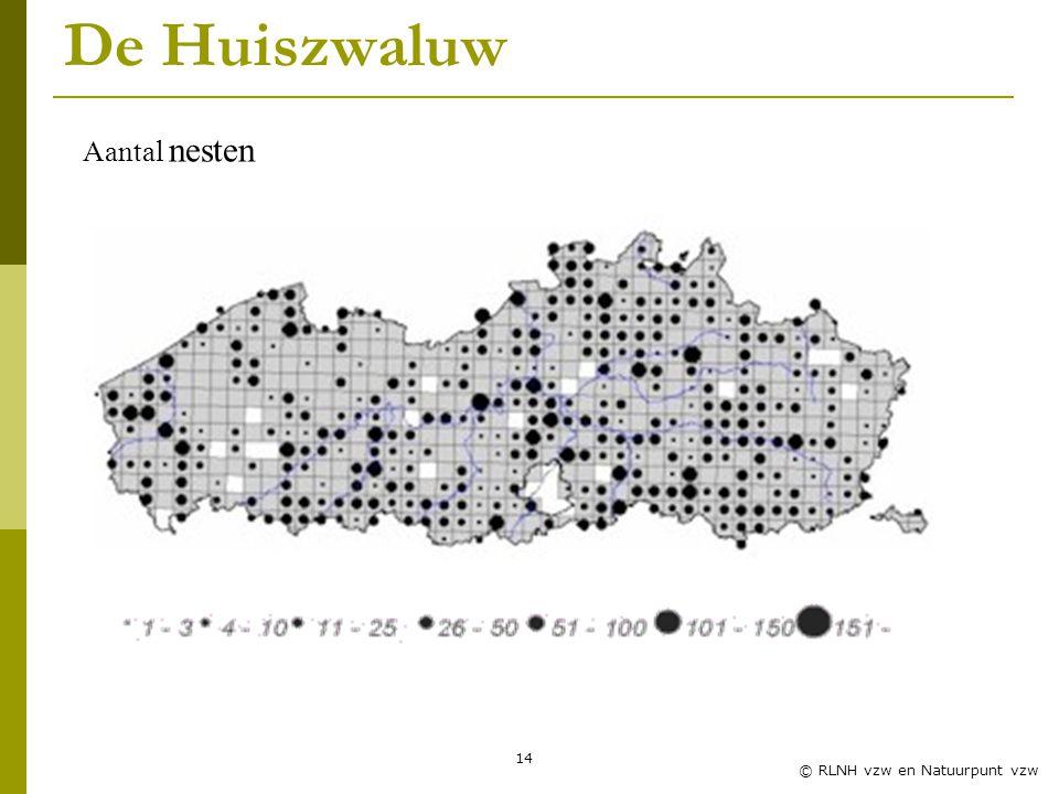 Zwaluwles RLNH vzw De Huiszwaluw Aantal nesten