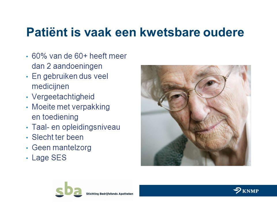Patiënt is vaak een kwetsbare oudere